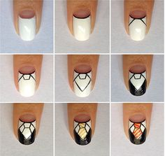 Tutorial for my Hogwarts uniform nails! I'm finally back home but I miss London, the weather was better Harry Potter Nails Designs, Harry Potter Theme, Harry Potter Diy, Pretty Nails, Fun Nails, Diy Lip Balm, Disney Nails, Cute Nail Designs, Nail Tutorials