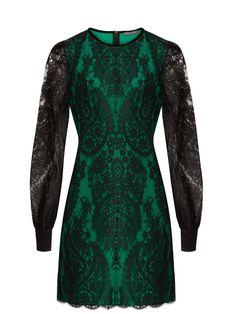 Round-neck lace mini dress   Alexander McQueen   MATCHESFASHION.COM