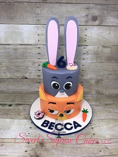Zootopia Cake Judy and Nick Cake Sweet Suprise Cakes, LLC. | CAKE GALLERY #zootopia #birthdaycake