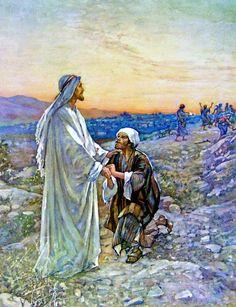 """""""...Y al entrar en una aldea,le salieron al encuentro 10 hombres leprosos,los cuales se pararon de lejos y alzaron la voz, diciendo: !Jesús,Maestro, ten misericordia de nosotros! Cuando él los vio,les dijo: Id, mostraos a los sacerdotes.Y aconteció q mientras iban,fueron limpiados.Entonces uno de ellos,viendo q había sido sanado, volvió, glorificándo a Dios a gran voz,y se postró rostro en tierra a sus pies,dándole gracias; éste era samaritano""""Lc 17:12-16 ღ✟"""