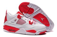"""http://www.nikeriftshoes.com/carmelo-anthony-air-jordan-4-retro-melo-pe-white-red-for-sale.html CARMELO ANTHONY AIR JORDAN 4 RETRO """"MELO"""" PE WHITE RED FOR SALE Only $89.00 , Free Shipping!"""