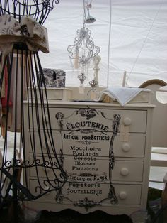 French Cottage style chest