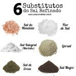 6 SUBSTITUTOS DO SAL REFINADO!