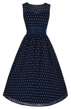 LindyBop retro šaty Cindy, modré