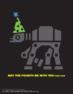 DIY AT-AT May the Fourth be with You Party T-shirt/Stencil Pattern. This and…