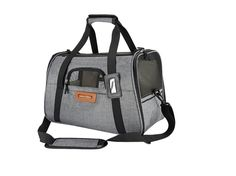 Amazon.com : Premium Pet Travel Carrier, Airline Approved, Soft Sided, Comes with Two Pet Mats, Perfect for Small Dogs and Cats (Charcoal Grey) : Pet Supplies