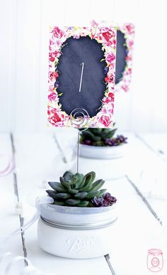 Wedding Mason Jar DIY Table Numbers with Free Printables - The Cottage Market