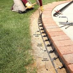 Brick Borders for Path Edging