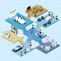 Office Isometric Icon royalty-free stock vector art