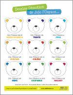 Midi-truc : dessine l'émotion de Jojo l'ourson. À imprimer gratuitement!