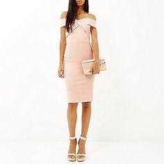 Light pink bardot bodycon dress - bodycon dresses - dresses - women