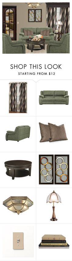 """""""FRIDAY NIGHT WIND DOWN"""" by arjanadesign ❤ liked on Polyvore featuring interior, interiors, interior design, home, home decor, interior decorating, WALL, Inhabit, Kosas Collections and ELK Lighting"""
