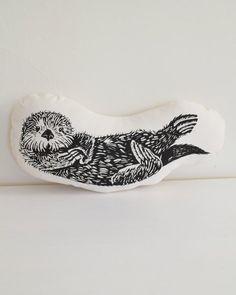 Otter Plush – Otter Pillow – Organic Cotton – Animal Accent Pillow – Sea Otter Throw Pillow – Animal Pillows – Plushie – USA Made Home Decor – accent pillow living room Otter Tattoo, Accent Pillows, Throw Pillows, Diy Pillows, Serpentina, Handmade Cushions, Animal Pillows, Green Print, Thing 1