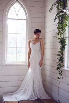 sequined wedding gown by Karen Willis Holmes http://ruffledblog.com/karen-willis-holmes-wedding-dresses #weddingdress #bridal