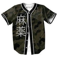 """""""Camo x JPN"""" 3D Baseball Jersey"""