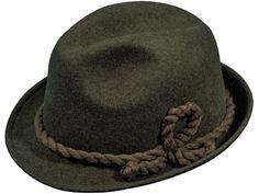 Wollfilz-Hut in Elementary Qualität, mit weicher Kordel, wasserfest, knautschbar;  Farbe: dunkelbraungrau melange Fedora Hat, Headboard Cover, Get Tan, Color