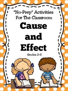 Cause and Effect This cause and effect activity pack with be a great addition to the classroom. This cause and effect book contains worksheets, graphic organizers, activities for the elementary classroom. Just download and print for a resource to use year after year!Click on the links below to view additional items: The Underground Railroad All About Me Adjectives Adverbs Perfect Punctuation Compound Words Rainbow Reading Comprehension Columbus Day Terms:Copyright linda'slearningcent...
