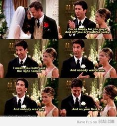 """Monica & Chandler showed us how to get married... correctly.   79 Ways """"Friends"""" Were Our Friends"""