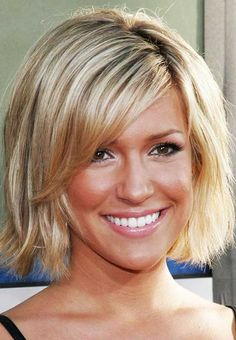 Blonde Fine Straight Hair with Side Bangs for Women