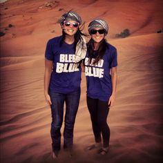 Cventers Meagan Cullen and Brittany Spano enjoying an afternoon in the desert of Dubai.