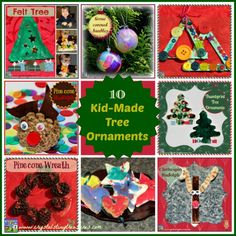 To help get you in the creative Christmas craft mood with your kids, I'm sharing our top 10 Christmas tree decorations for young children to make.