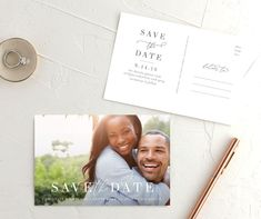 Romantically Scripted Save The Date Postcards Modern Save The Dates, Save The Date Photos, Save The Date Postcards, Photo Postcards, Save The Date Cards, Wedding Stationary, Wedding Invitations, Calligraphy Save The Dates, Postcard Size
