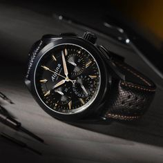 """Seventy-seven years after inventing the concept of the sport watch, Alpina once more pushed the boundaries by creating an entirely in-house developed, produced and assembled chronograph equipped with a Flyback Function with the Alpina """"Full Black"""" Alpiner 4 Manufacture Flyback Chronograph."""