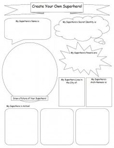 make your own comic strip template - comic strip template pages for creative assignments for