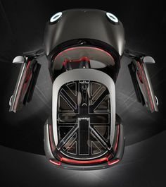 The 2015 Mini Cooper is the largest mini ever. This leaves space for a smaller Mini in the line up. Something along the lines of the Mini Rocketman concept. Scooters, Car Top View, Scooter Design, Mini Countryman, Geneva Motor Show, Motorcycle Design, Mini S, Mini Cooper S, Small Cars