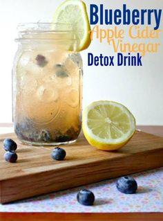Blueberry Apple Cider Vinegar Drink Recipe for Detox