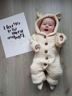 CROCHET PATTERN BABY Romper Coverall Hooded baby Bunting
