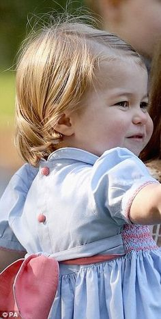 Prince Charlotte has inherited her great grandmother's smile