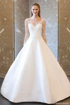 legends romona keveza spring 2018 bridal illusion long sleeves sheer neck sweetheart a line ball gown wedding dress (l8133) mv romantic elegant -- Legends Romona Keveza Spring 2018 Wedding Dresses