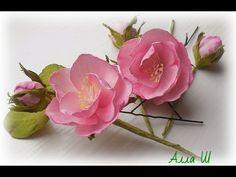 МК Цветы из фоамирана на шпильках. - YouTube