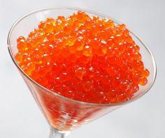 Orange Caviar, had it in a Sinatra Sushi Roll, Fantastic.