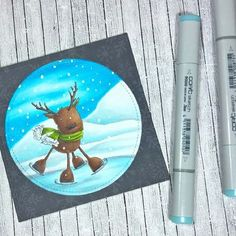 #thedailymarker30day Day 6: Had an unexpectedly busy Sunday, so didn\'t manage to work on my colouring book pages, but did colour a little something for tomorrow\'s Marker Geek Monday blog post! Here\'s a peek!  #stampingbella #stamping #coloring #cardmaking #cardmaker #handmadecards #christmascard #reindeer #copicuk #copicsketch #copiccoloring #adultcoloring #copicmarkers #coloringchallenge