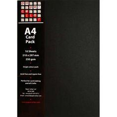 A4 Black Card Pack - Essentials - Papercrafts - Home Craft#.VJ1elAN92A#.VJ1elAN92A
