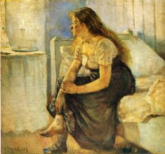Edvard Munch : morning, 1884.