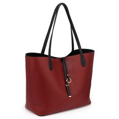 Womens Reversible Black/Burgundy Designer Faux leather Large Size Shoulder Hand Bags – Linen and Bedding Leather Crossbody Bag, Clutch Bag, Leather Purses, Leather Bags, Canvas Handbags, Tote Handbags, Big Handbags, Handbags Online, Designer Bags Sale