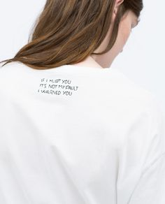 Image 5 of EMBROIDERED T-SHIRT from Zara
