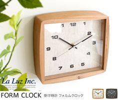 掛け時計 掛け時計 フォルムクロック