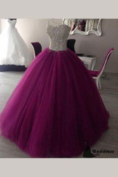 Sweet 15 Year Beaded Purple Quinceanera Dresses Cheap 2017 Vestidos 16 Year Prom Dress Ball Gown Sexy Sweetheart Lace Up Back Cute Prom Dresses, Sweet 16 Dresses, Pretty Dresses, Beautiful Dresses, Formal Dresses, Wedding Dresses, Pageant Dresses For Teens, Gown Wedding, Prom Dresses 2018