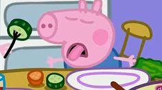 Peppa Pig y George Aprenden los Nombres de las Frutas y de las Verduras - YouTube