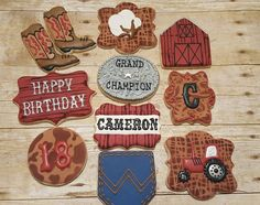 Western Cookies https://www.facebook.com/sweetcharleyconfections