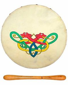 Medium Bodhran Celtic Drum with Celtic Knot Design by Turtle Island Imports. $79.95
