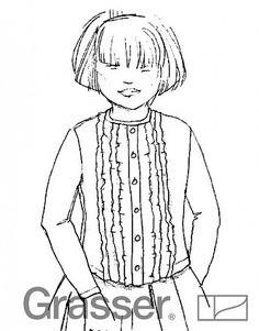 Блуза для девочки, бесплатная выкройка №112