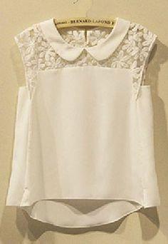 """Style: Sweet Material: Cotton Color: White Size: S / M / L / XL / XXL / 3XL S: Bust:84CM (33.07"""") Shoulder:32CM(12.60"""") Sleeve Length:6CM..."""