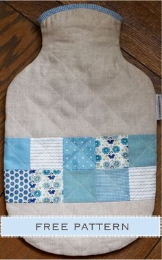 Free PDF pattern @ Townmouse -  Hot Water Bottle Cover