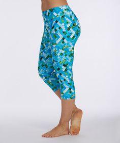Look at this #zulilyfind! Diva Blue Paddleboard Leggings - Women #zulilyfinds