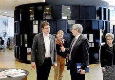 Ministerbesøg v. Bygge og energiminister Rasmus Helveg, Borgmester Joy Mogensen, Ressource og Teknologidirektør Niels Benn Sørensen og Rektor Ulla Koch.